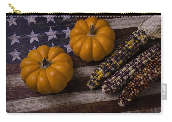Indian Corn On Old Flag Carry-all Pouch