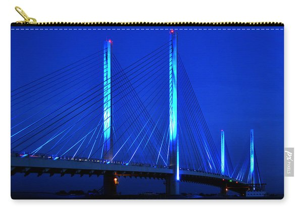 Indian River Bridge At Night Carry-all Pouch