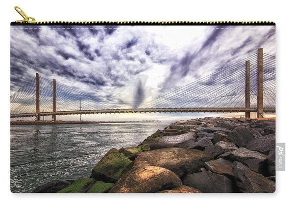 Indian River Bridge Clouds Carry-all Pouch