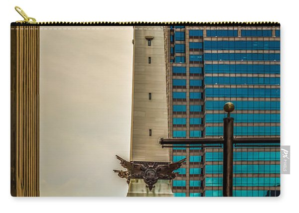 Indiana - Monument Circle With State Capital Building Carry-all Pouch