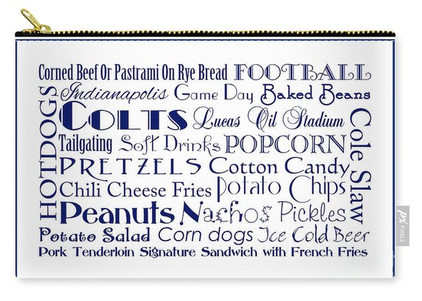 Indianapolis Colts Game Day Food 3 Carry-all Pouch