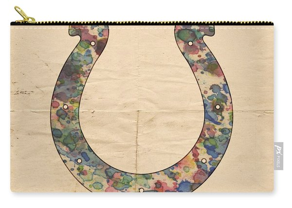 Indianapolis Colts Logo Art Carry-all Pouch