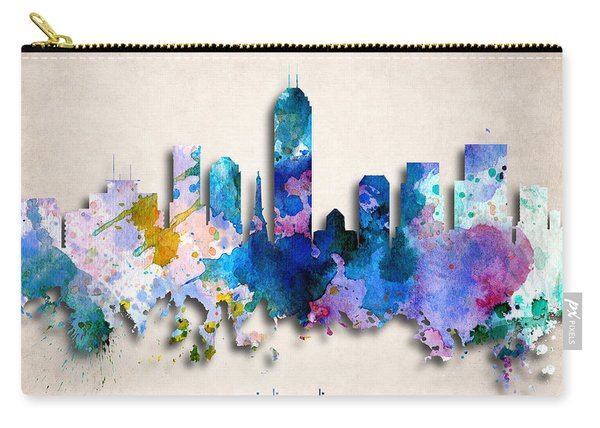 Indianapolis Painted City Skyline Carry-all Pouch