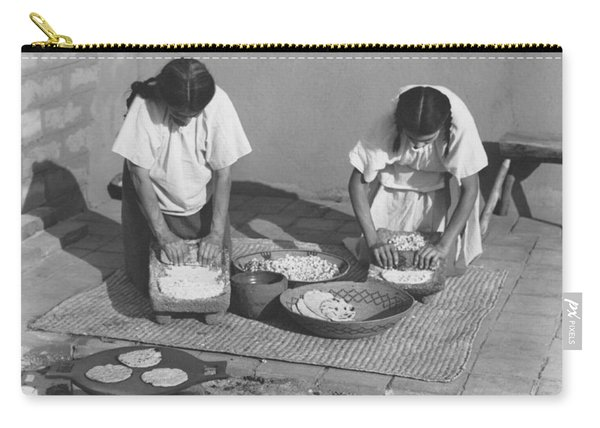 Indians Making Tortillas Carry-all Pouch