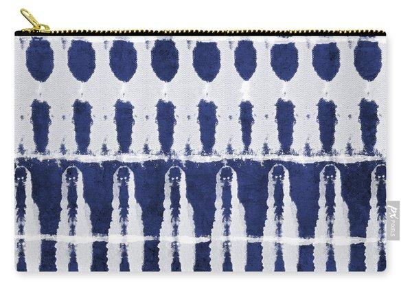 Indigo And White Shibori Design Carry-all Pouch