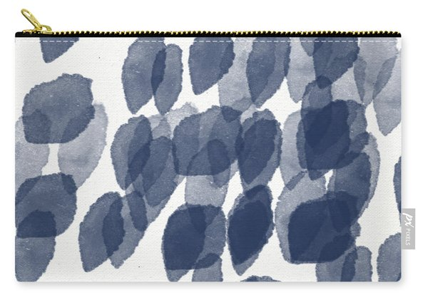 Indigo Rain- Abstract Blue And White Painting Carry-all Pouch