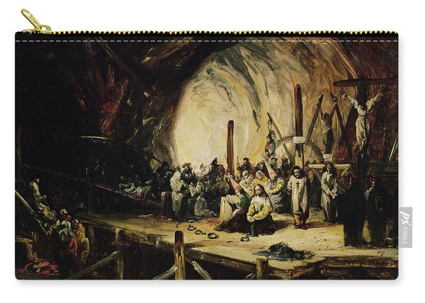 Inquisition Scene, 1851 Oil On Canvas Carry-all Pouch