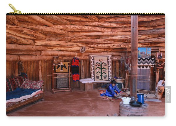 Inside A Navajo Home Carry-all Pouch