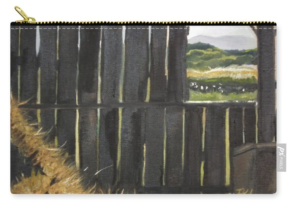 Barn -inside Looking Out - Summer Carry-all Pouch