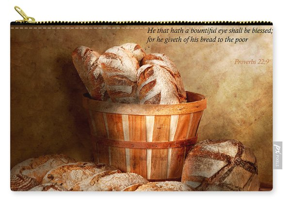 Inspirational - Your Daily Bread - Proverbs 22-9 Carry-all Pouch