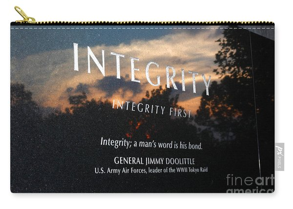 Integrity A Mans Word Is His Bond Carry-all Pouch