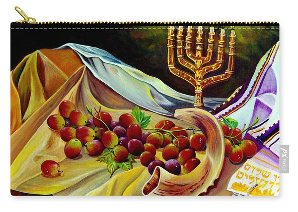 Carry-all Pouch featuring the painting Intercession by Nancy Cupp