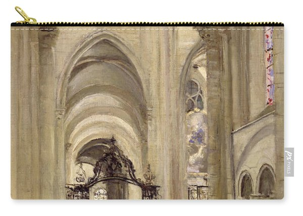 Interior Of The Cathedral Of St. Etienne, Sens Carry-all Pouch