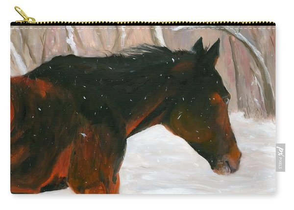 Into The Snow Carry-all Pouch