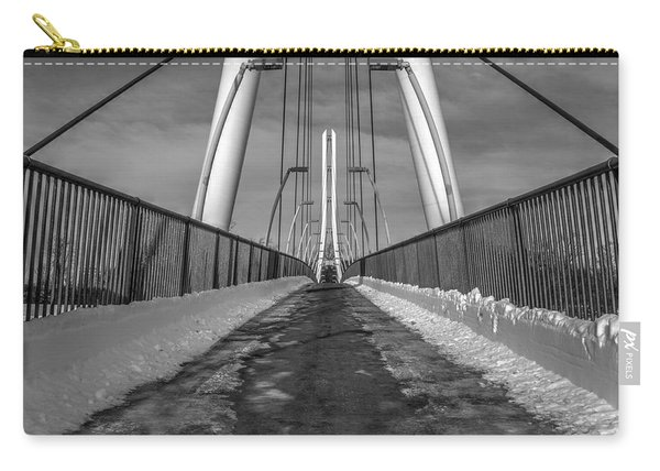 Carry-all Pouch featuring the photograph Ipfw Bridge by Michael Colgate