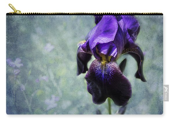 Iris - Purple And Blue - Flowers Carry-all Pouch