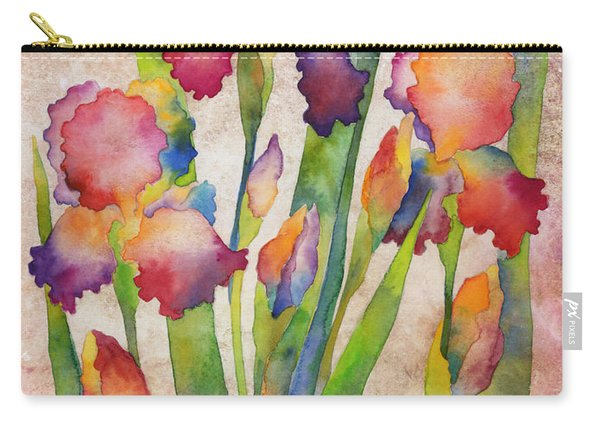 Iris Elegance On Pink Carry-all Pouch