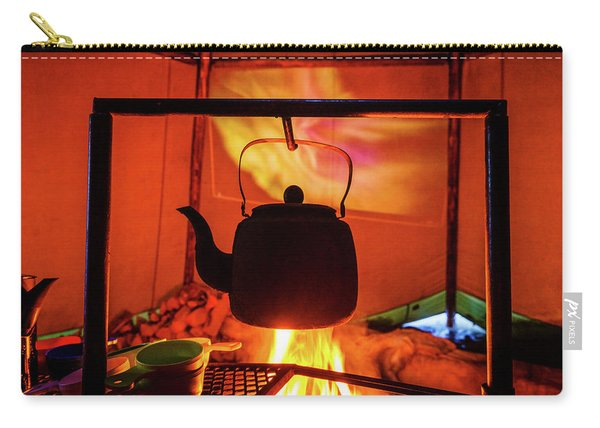 Iron Kettle Over Campfire, Sami Tent Carry-all Pouch