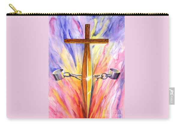 Carry-all Pouch featuring the painting Isaiah 61 by Nancy Cupp