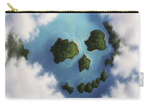 Islands Framed By Clouds Forming Carry-all Pouch