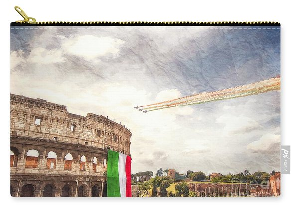 Italian Flag In Rome Carry-all Pouch