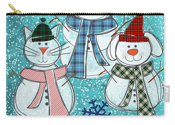 It's Snowtime Carry-all Pouch