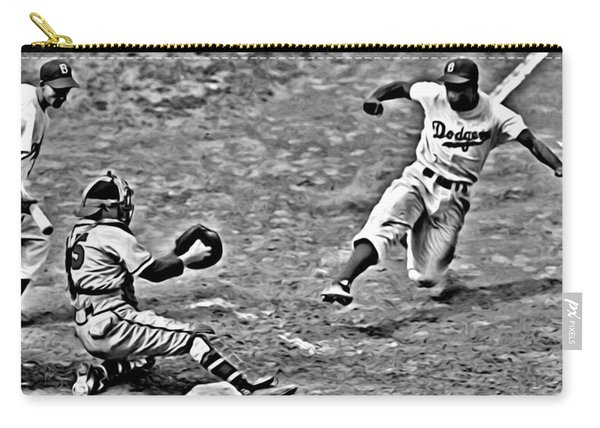 Jackie Robinson Stealing Home Carry-all Pouch