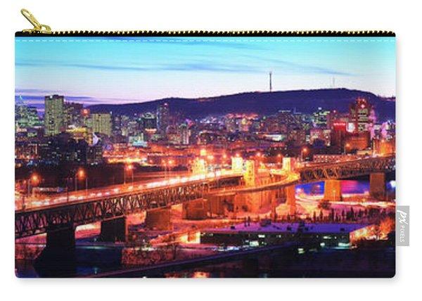 Jacques Cartier Bridge With City Lit Carry-all Pouch