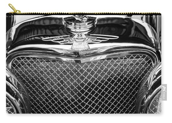 Jaguar Ss 100 Grille Emblem -0544bw Carry-all Pouch