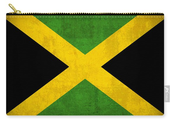 Jamaica Flag Vintage Distressed Finish Carry-all Pouch