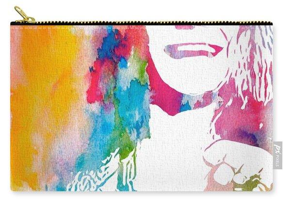 Janis Joplin Watercolor Carry-all Pouch