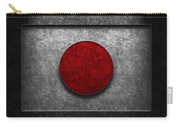 Japanese Flag Stone Texture Carry-all Pouch