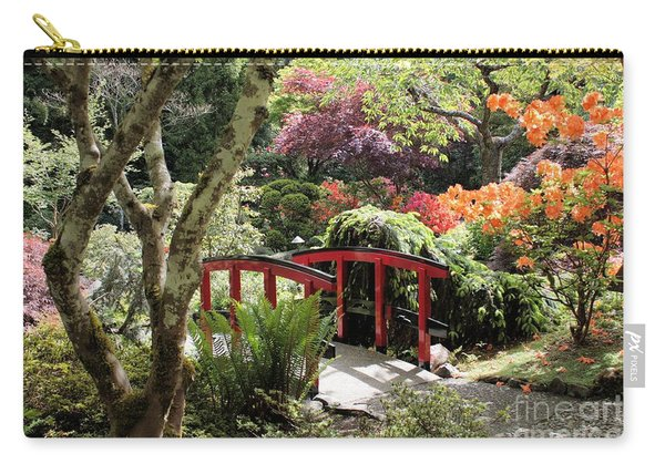 Japanese Garden Bridge With Rhododendrons Carry-all Pouch