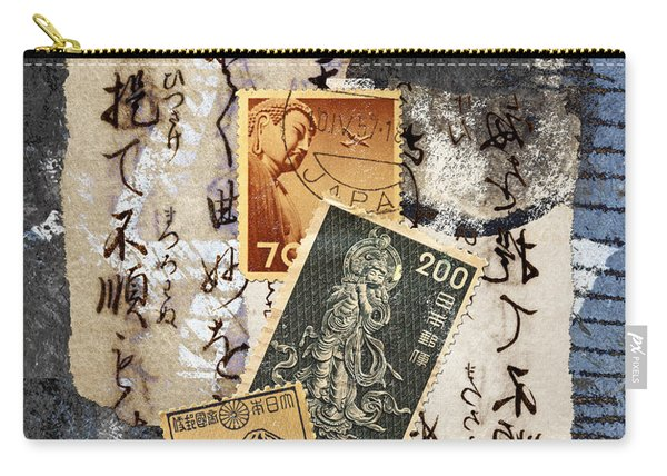 Japanese Postage Three Carry-all Pouch