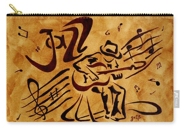 Jazz Abstract Coffee Painting Carry-all Pouch