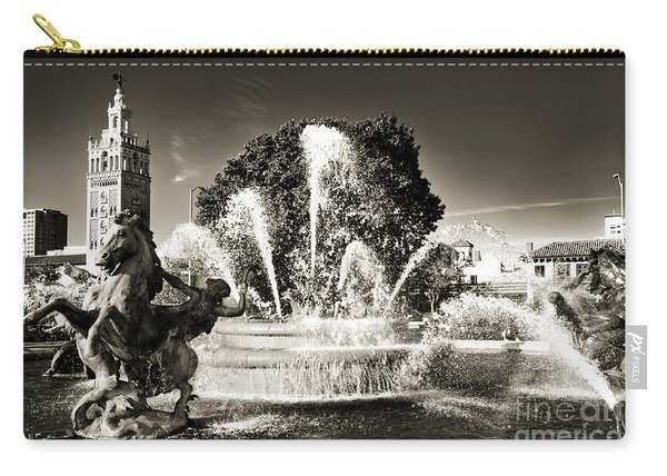 Jc Nichols Memorial Fountain Bw 1 Carry-all Pouch