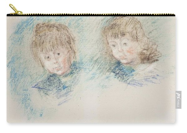 Jean-pierre Hoschede And Michel Monet Pastel Carry-all Pouch