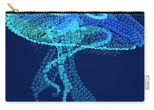 Jellyfish Bedazzled Carry-all Pouch