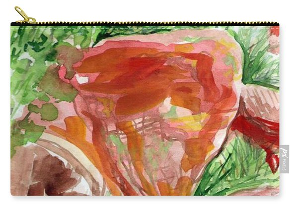 Carry-all Pouch featuring the painting Jemez Red Rocks by Ashley Kujan