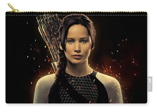 Jennifer Lawrence As Katniss Everdeen Carry-all Pouch