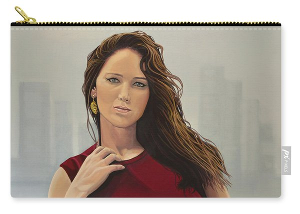 Jennifer Lawrence Painting Carry-all Pouch