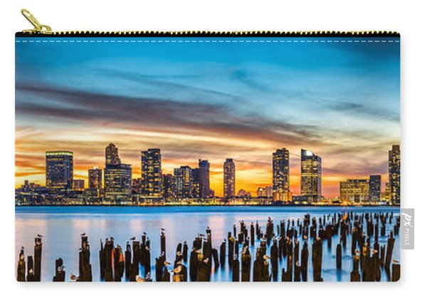 Jersey City Panorama At Sunset Carry-all Pouch