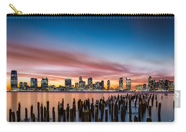 Jersey City Skyline At Sunset Carry-all Pouch