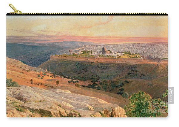 Jerusalem From The Mount Of Olives Carry-all Pouch