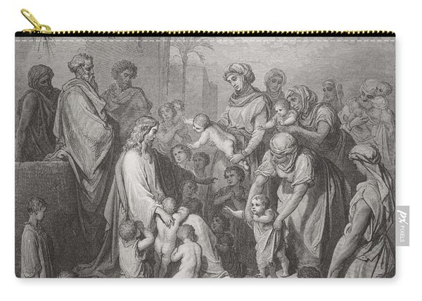 Jesus Blessing The Children Carry-all Pouch