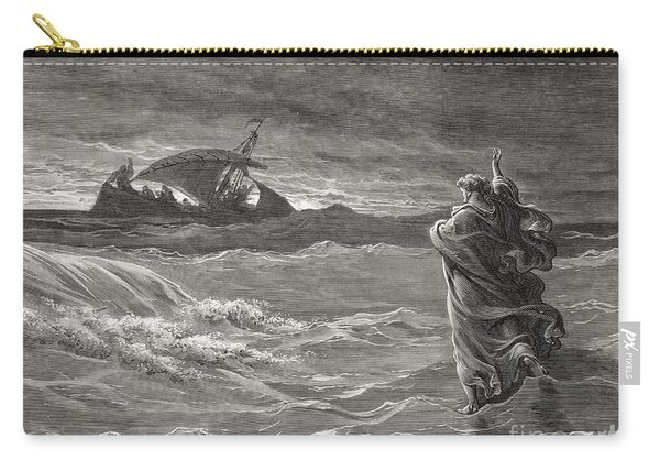 Jesus Walking On The Sea John 6 19 21 Carry-all Pouch
