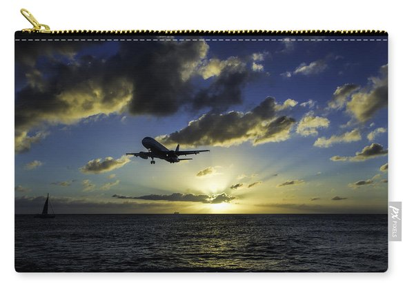 jetBlue landing at St. Maarten Carry-all Pouch