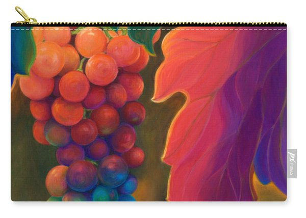 Carry-all Pouch featuring the painting Jewels Of The Vine by Sandi Whetzel