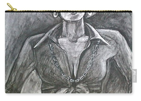 Carry-all Pouch featuring the drawing Jezebel by Gabrielle Wilson-Sealy