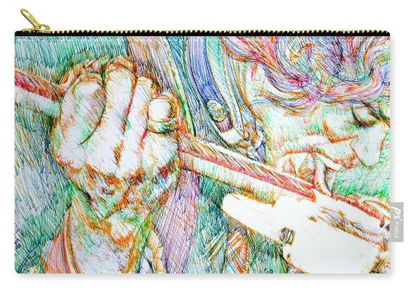 Jimi And His Guitar Carry-all Pouch
